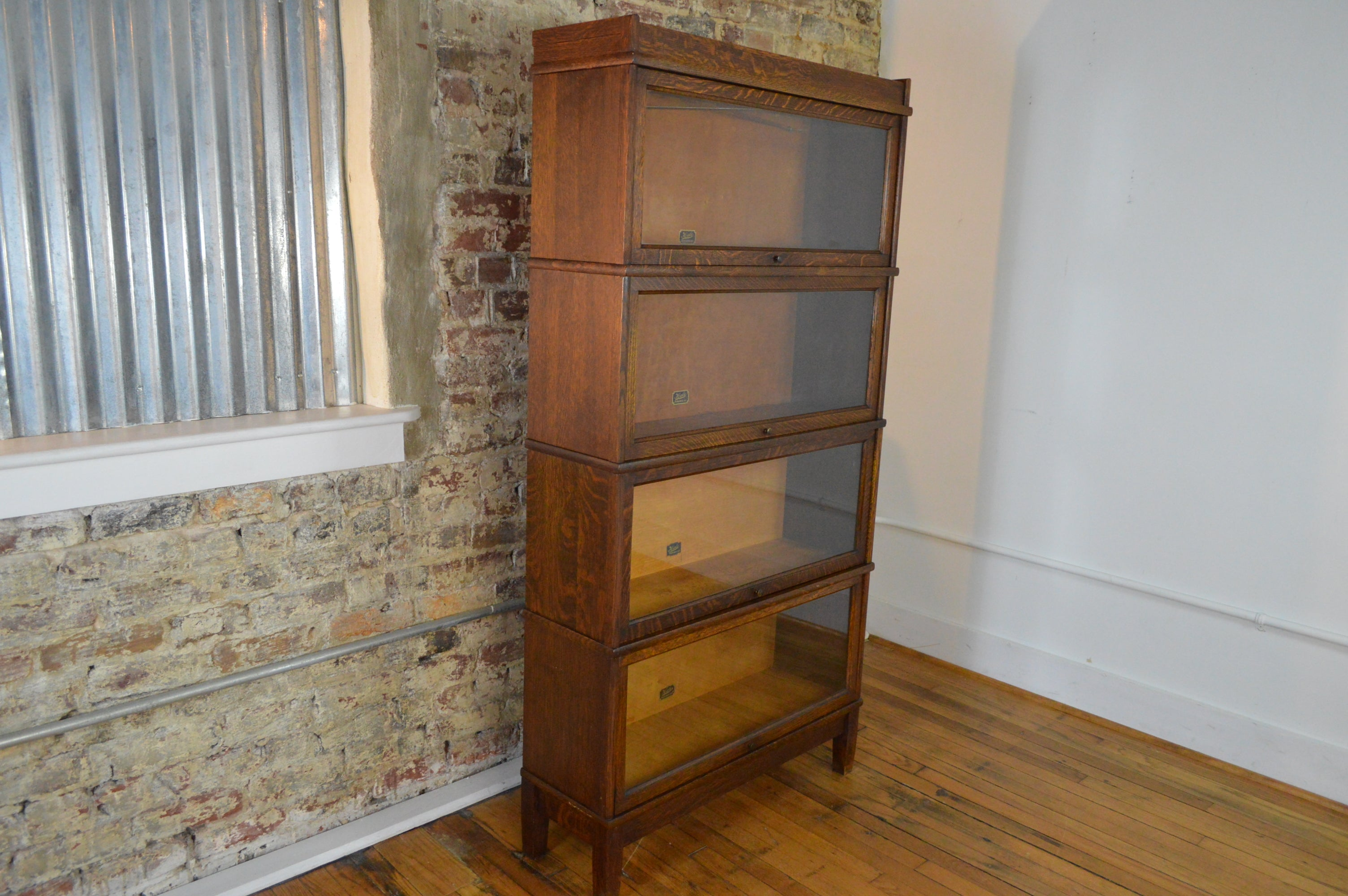 Antique Hale Barrister Bookcase In Oak