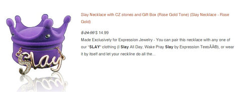 Slay Gold Necklace