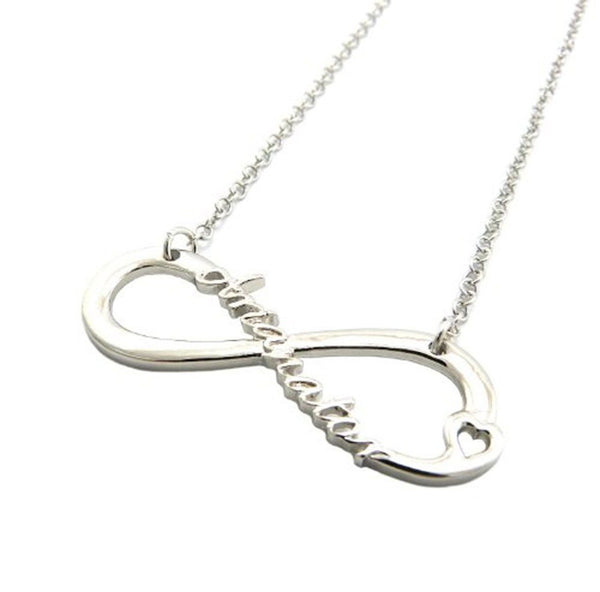 Arianator Infinity Necklace Silver Tone Pendant
