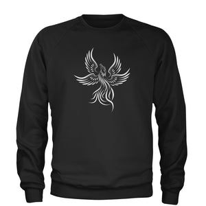 Phoenix Rising from the Ashes  Adult Crewneck Sweatshirt