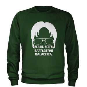 Bears Beets Battlestar Galactica Adult Crewneck Sweatshirt