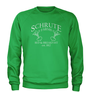 Schrute Farms Bed and Breakfast Office Adult Crewneck Sweatshirt