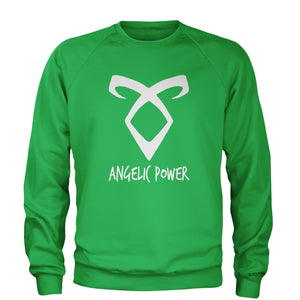 Angelic Power Rune Enkeli  Adult Crewneck Sweatshirt