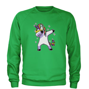 Dabbing Unicorn Adult Crewneck Sweatshirt