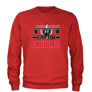 Dwight Schrute Gym For Muscles Adult Crewneck Sweatshirt