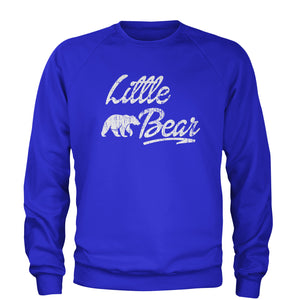 Little Bear Cub Family  Adult Crewneck Sweatshirt