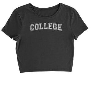 College Belushi Bluto Tribute Cropped T-Shirt