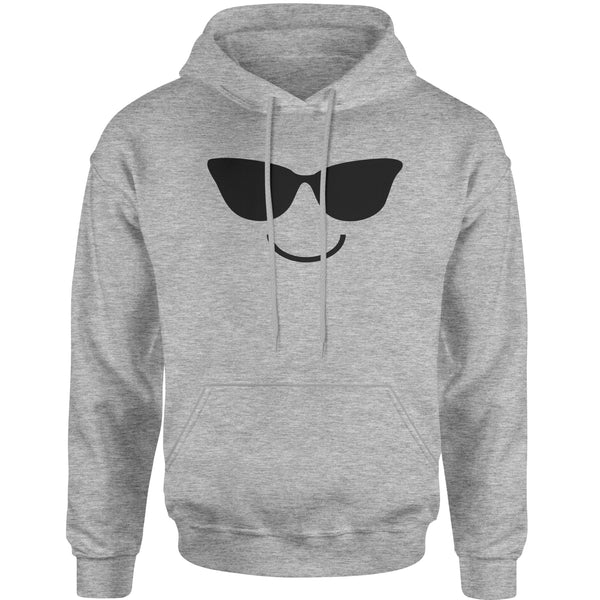 Emoticon Sunglasses Smile Face Adult Hoodie Sweatshirt