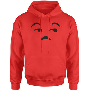 Emoticon Whatever Smile Face Adult Hoodie Sweatshirt