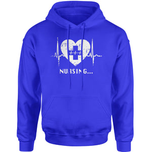Nursing Heart Beat Adult Hoodie Sweatshirt