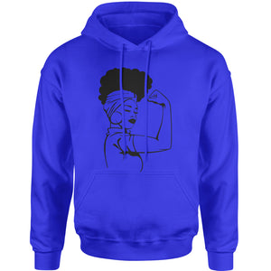 African American Rosie The Riveter Adult Hoodie Sweatshirt