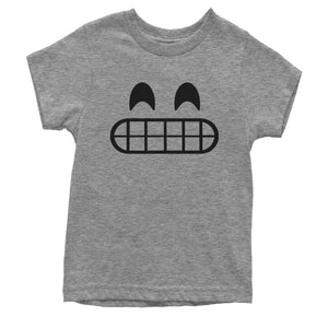 Emoticon Grinning Smile Face Youth T-shirt