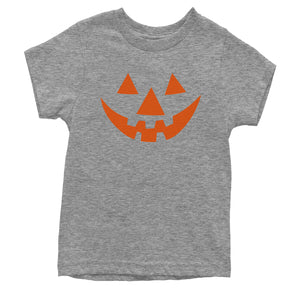 Pumpkin Face (Orange Print) Youth T-shirt
