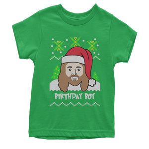 Jesus Birthday Boy Ugly Christmas Youth T-shirt