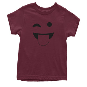 Emoticon Tongue Hanging Out Smile Face Youth T-shirt