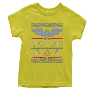 Wizarding World Ugly Christmas Youth T-shirt