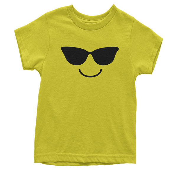 Emoticon Sunglasses Smile Face Youth T-shirt