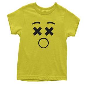 Emoticon XX Eyes Smile Face Youth T-shirt
