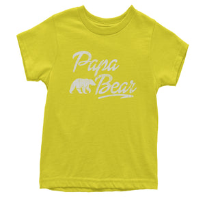 Papa Bear Vintage Distressed Youth T-shirt