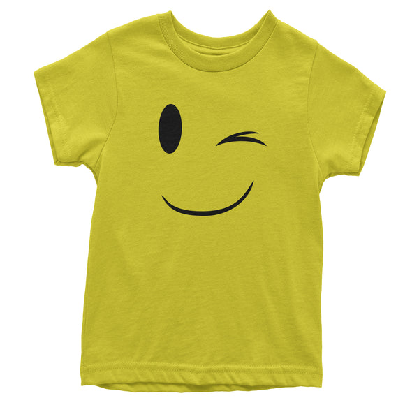 Emoticon Winking Smile Face Youth T-shirt