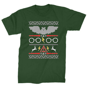 Wizarding World Ugly Christmas Mens T-shirt
