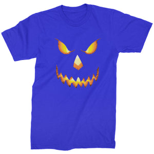 Jack-O-Lantern Glowing Pumpkin Face Halloween Mens T-shirt