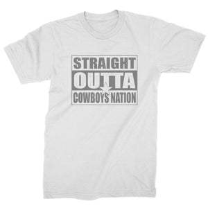 Straight Outta Cowboys Nation Football  Mens T-shirt