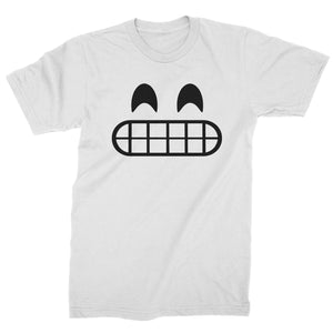 Emoticon Grinning Smile Face Mens T-shirt