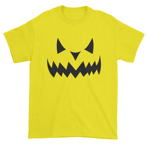 Evil Pumpkin Face (Black Print) Mens T-shirt