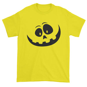 Silly Pumpkin Face (Black Print) Mens T-shirt