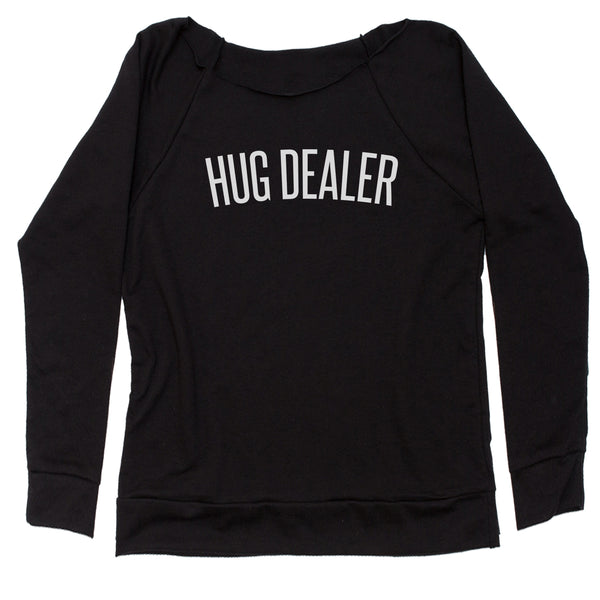 Hug Dealer  Slouchy Off Shoulder Sweatshirt