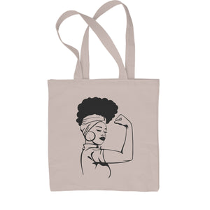 African American Rosie The Riveter Shopping Tote Bag
