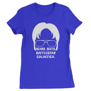 Bears Beets Battlestar Galactica Womens T-shirt