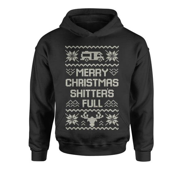Merry Christmas Sh-tter's Full Ugly Christmas Youth-Sized Hoodie