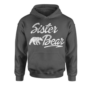 Sister Bear Cub Family  Youth-Sized Hoodie