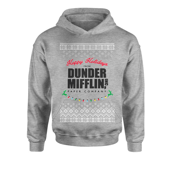 Happy Holidays from Dunder Mifflin Ugly Christmas Youth-Sized Hoodie