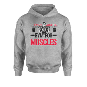 Dwight Schrute Gym For Muscles Youth-Sized Hoodie