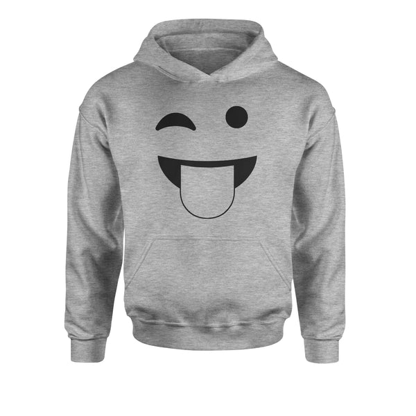 Emoticon Tongue Hanging Out Smile Face Youth-Sized Hoodie