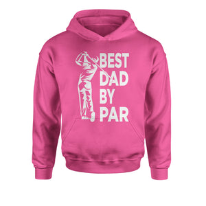 Best Dad By Par Golfing Gift For Father Youth-Sized Hoodie
