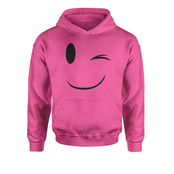 Emoticon Winking Smile Face Youth-Sized Hoodie