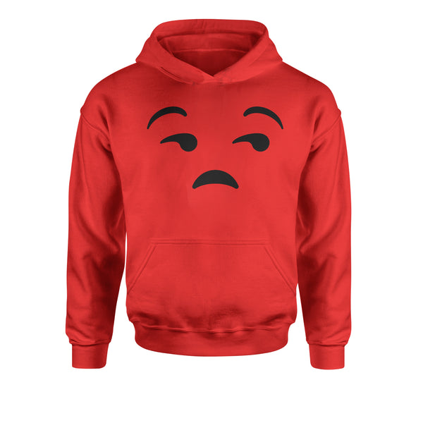 Emoticon Whatever Smile Face Youth-Sized Hoodie