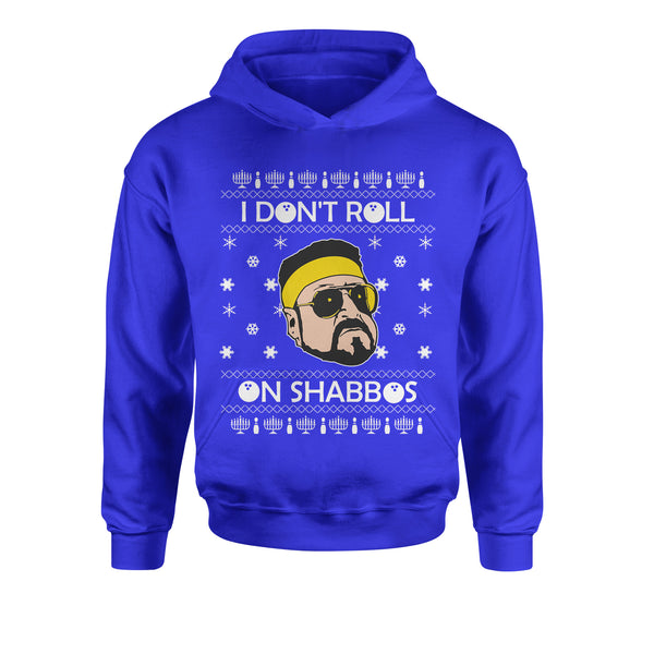 I Don't Roll On Shabbos Lebowski Ugly Christmas Youth-Sized Hoodie