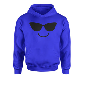 Emoticon Sunglasses Smile Face Youth-Sized Hoodie