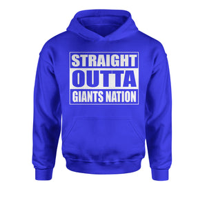 Straight Outta Giants Nation Football  Youth-Sized Hoodie