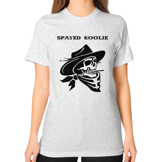 Unisex T-Shirt (on woman) - Quickdraw Records - 2
