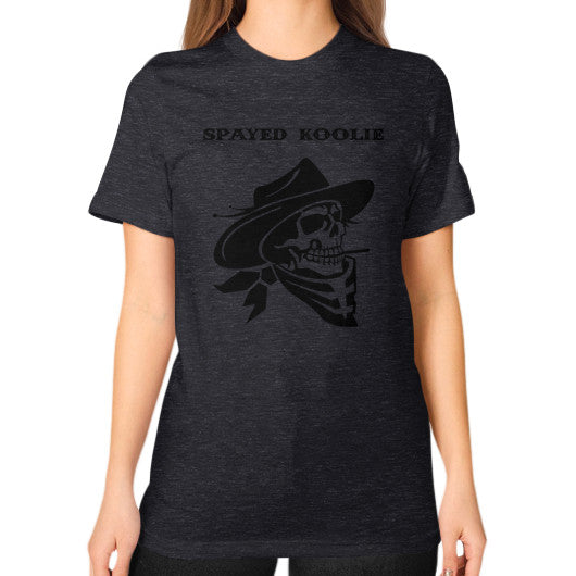 Unisex T-Shirt (on woman) - Quickdraw Records - 18
