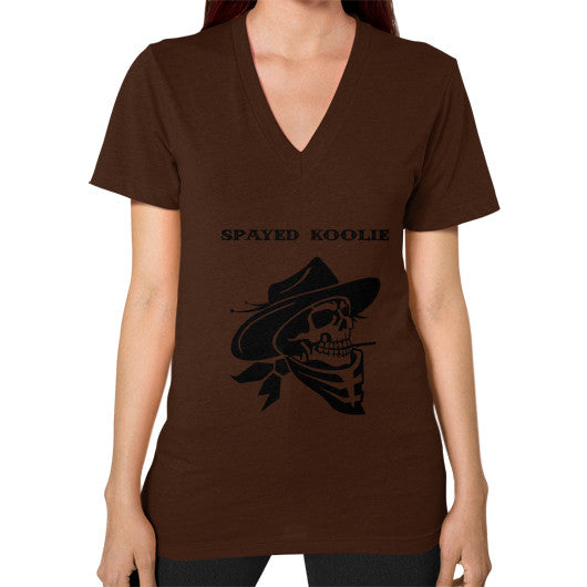 V-Neck (on woman) - Quickdraw Records - 5