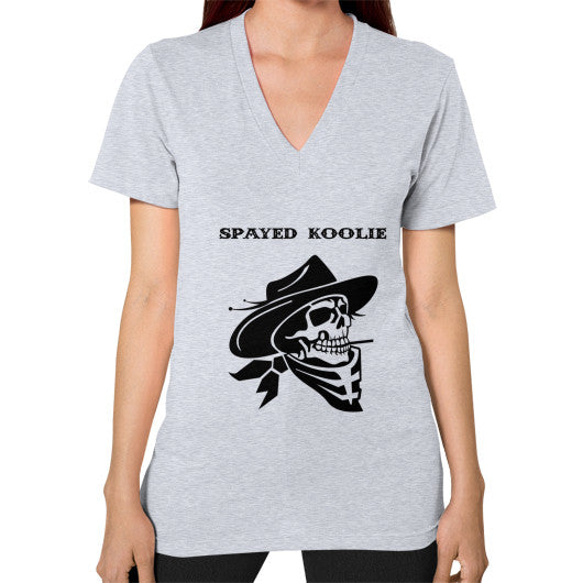V-Neck (on woman) - Quickdraw Records - 6