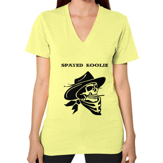 V-Neck (on woman) - Quickdraw Records - 7
