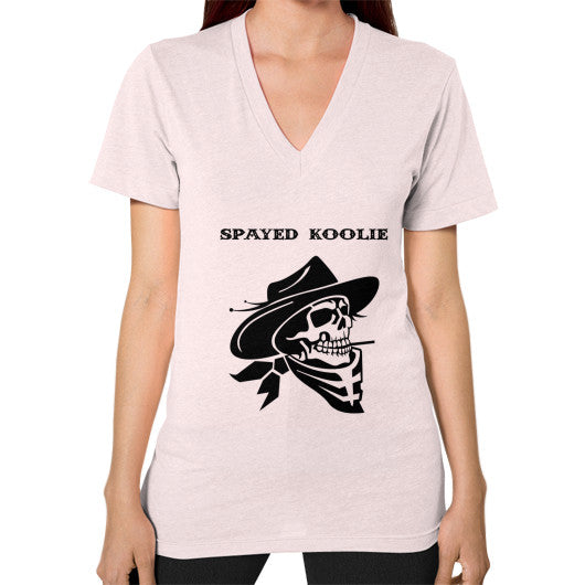 V-Neck (on woman) - Quickdraw Records - 9